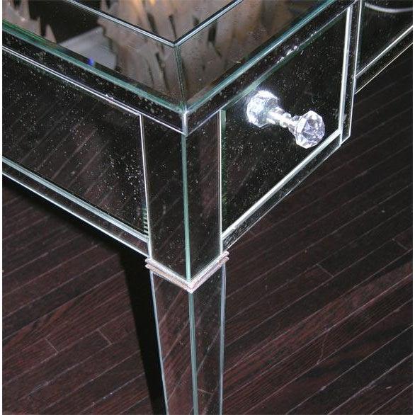 Glass Custom Mirrored Desk For Sale - Image 7 of 8