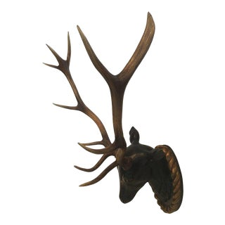 Faux Wall Mounted Stag Head With Antlers
