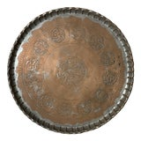 Image of Vintage Middle Eastern Copper Tray For Sale
