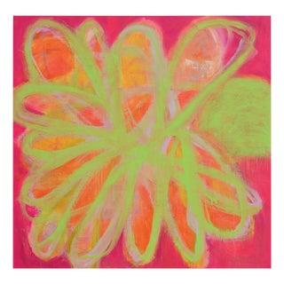 """Brenda Zappitell """"Power Flower"""", Painting For Sale"""