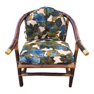 Vintage Ficks Reed Rattan Lounge Chair For Sale