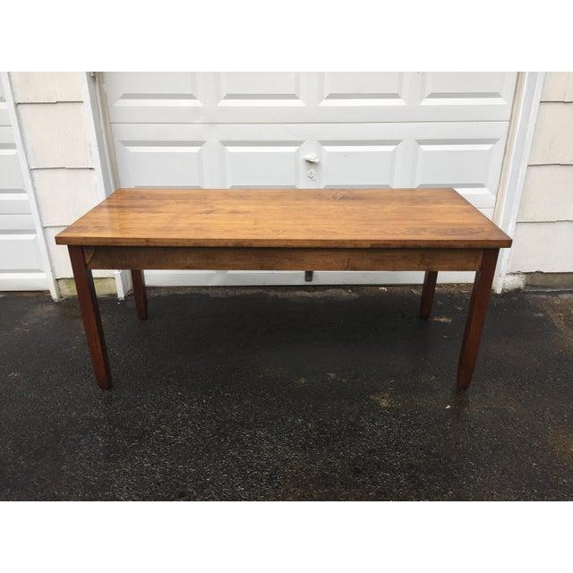 Large Vintage Modern 2-Drawer Desk - Image 6 of 11