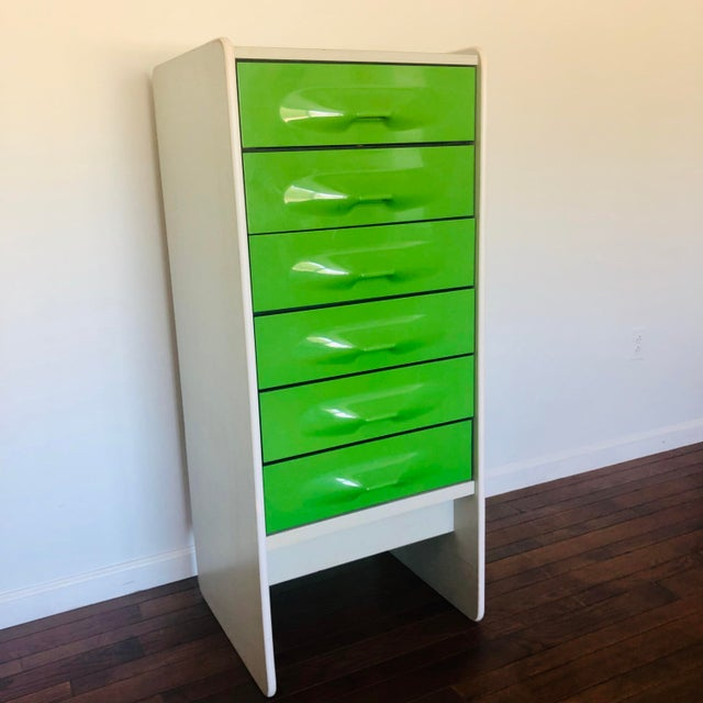 Raymond Loewy 1970s Space Age Modern Treco Highboy By Giovanni Maur For Sale - Image 4 of 6