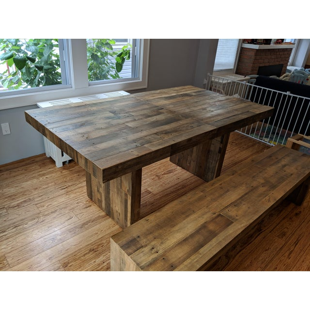 West Elm Emmerson Expandable Dining Table And Bench Chairish