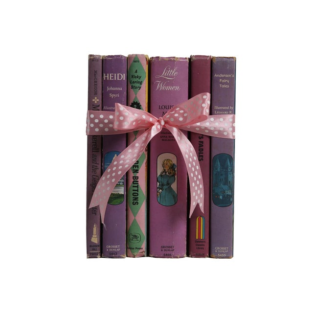 "Midcentury Book Gift Set: ""Lilac"" Stories For Girls - Set of 6 - Image 5 of 5"