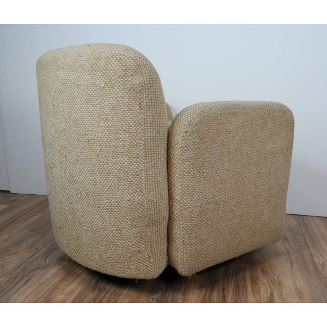 1970s 1970s Mid-Century Modern Wool Tweed Swivel Chairs by Preview - a Pair For Sale - Image 5 of 13