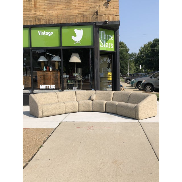 This mid century modern 1970's sectional designed and manufactured by Vecta Contract as part of their Tappo Line. The...