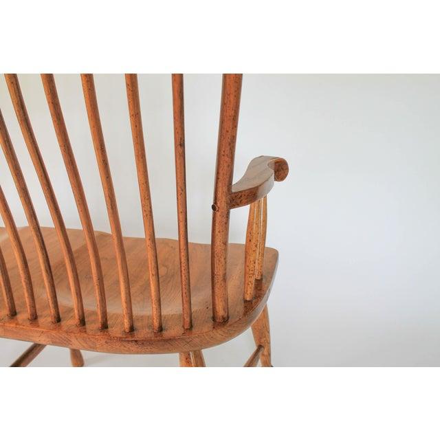 High Back Solid Oak Bench - Image 10 of 11