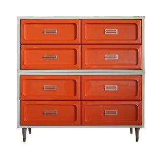 Orange & Chrome Pop Art Dresser