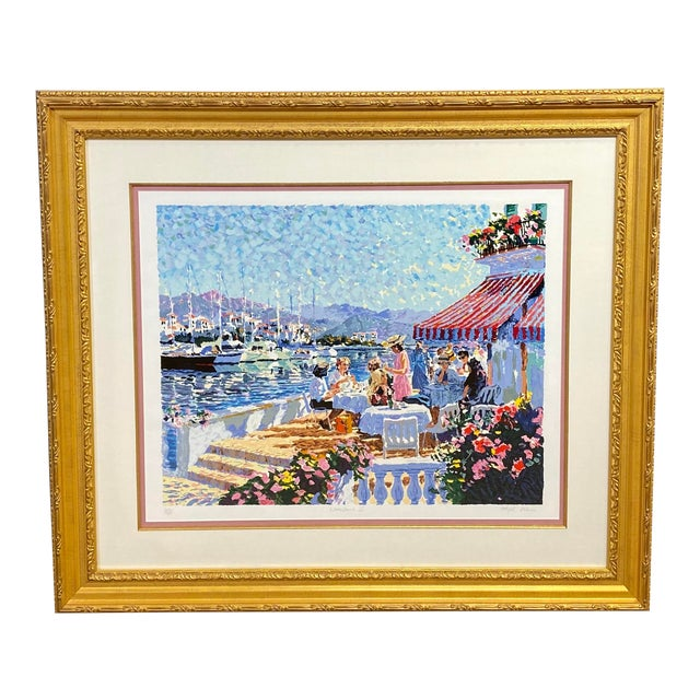 """""""Waterfront II"""" Signed and Numbered Lithograph by Hazel Soan For Sale"""