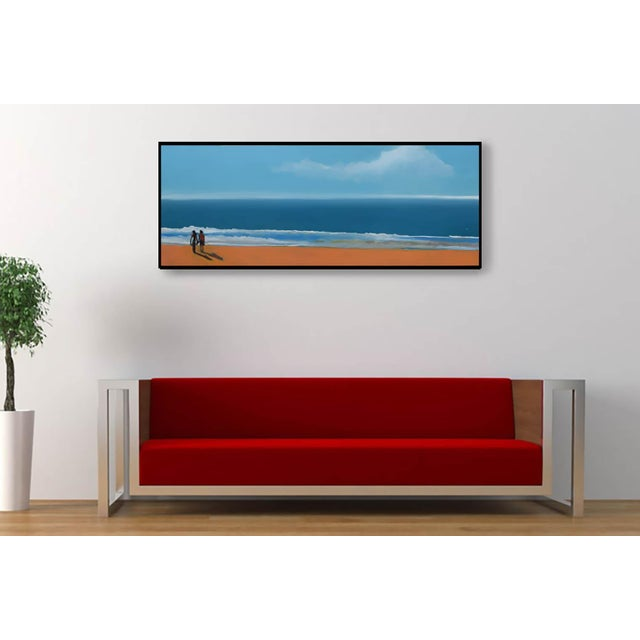 """2010s """"By the Sea"""" Geoff Greene Oil Painting For Sale - Image 5 of 10"""
