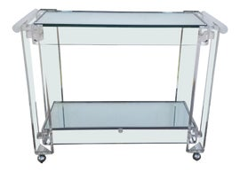 Image of Mirrored Glass Bar Carts and Dry Bars
