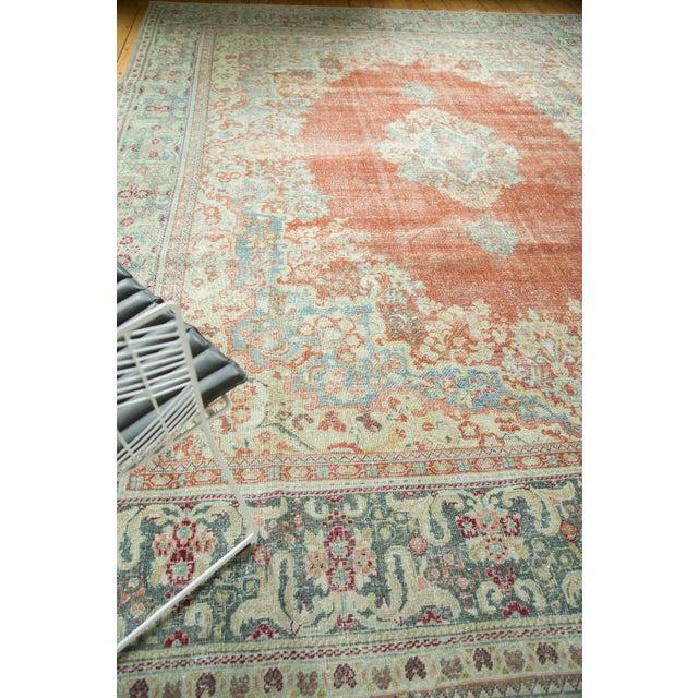 """Vintage Distressed Arak Carpet - 10' x 13'3"""" For Sale - Image 9 of 10"""