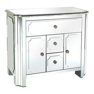 Hudson Mirrored Nightstand/Dresser For Sale