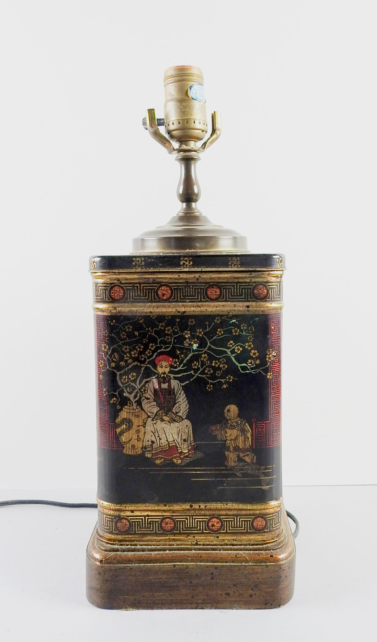Wildwood Chinoiserie Tea Tin Table Lamp   Image 4 Of 5