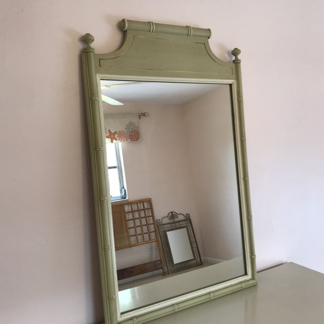 Mid 20th Century 20th Century Chinoisere Henry Link Bali Hai Faux Bamboo Dresser With Mirror For Sale - Image 5 of 8
