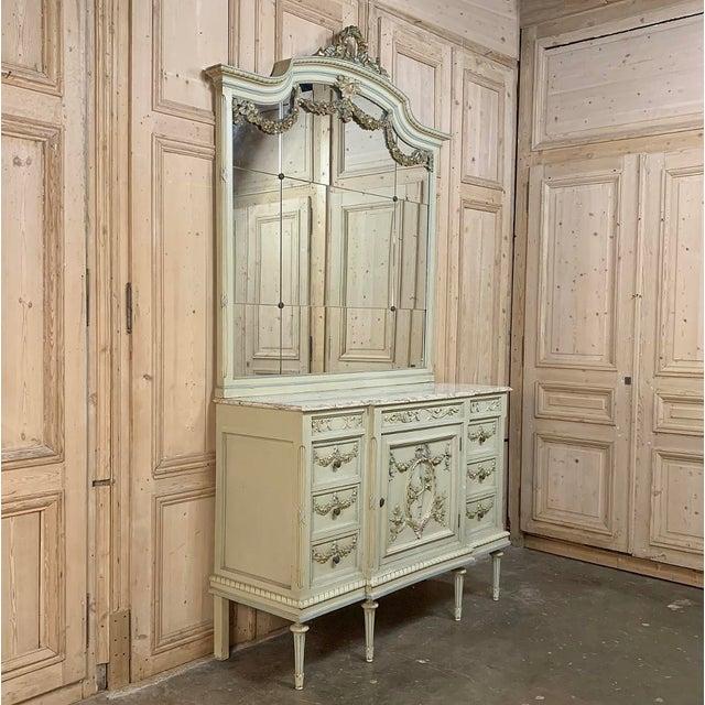 Antique Italian Louis XVI Painted Dresser ~ Linen Press For Sale In Dallas - Image 6 of 13