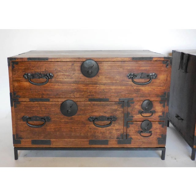 Pair of 19th Century Low Japanese Tansus, Nightstands For Sale - Image 9 of 9
