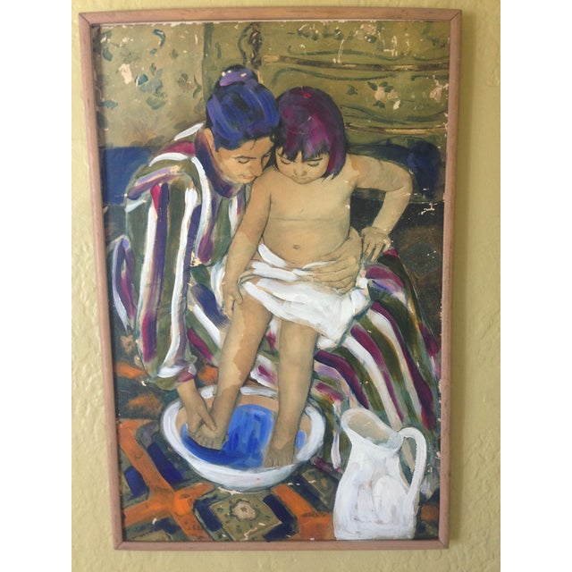 The Child's Bath' Replica Painting - Image 2 of 4