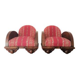 Danish 1930s Art Deco Club Chairs - A Pair