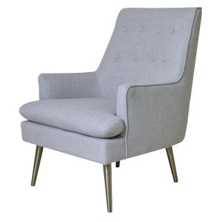 Modern Pasargad Home Grey Emily Armchair For Sale