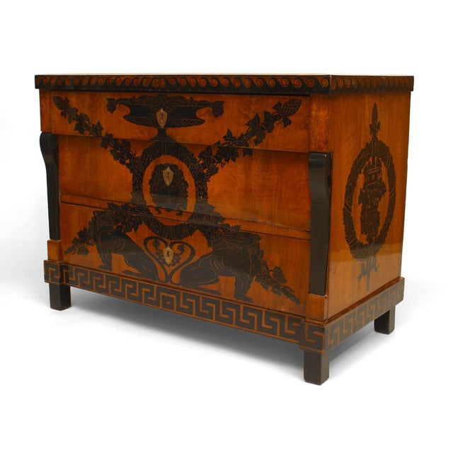 Early 19th Century Italian Neoclassical Penwork Chest For Sale - Image 10 of 10