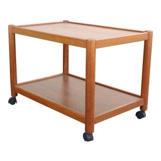 Vintage 2-Tiered Teak Bar Cart