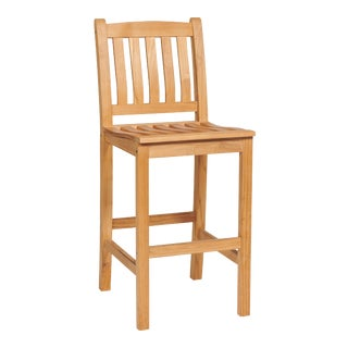 Oasis Teak Outdoor Bar Chair For Sale