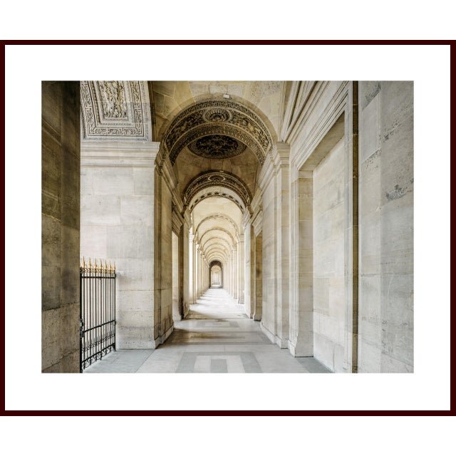 The Louvre Museum in Paris, France. Elegant, almost understated stonework create a mood of peace and grandeur. This...