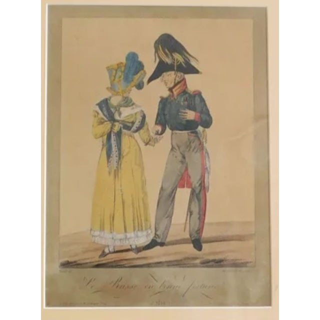 French 1814 Antique Napolean Print For Sale - Image 3 of 5