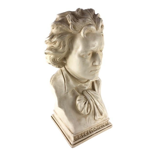 20th Century Contemporary Alexander Backer Co Ivory Colored Beethoven Bust For Sale