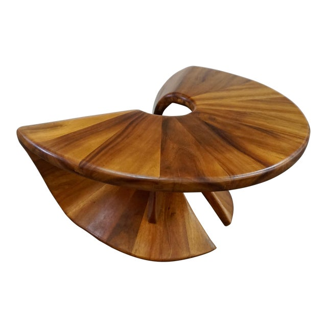 Laminated Walnut Coffee / Side Table For Sale