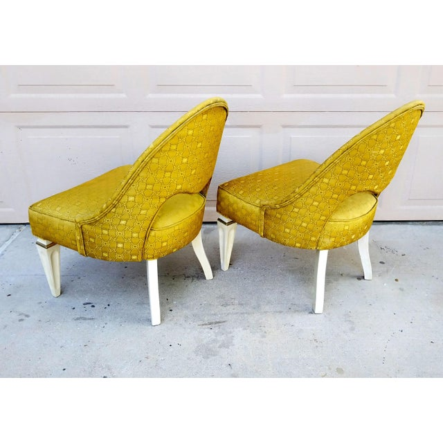 Art Deco Vintage Art Deco Spoon Back Chairs - a Pair For Sale - Image 3 of 6