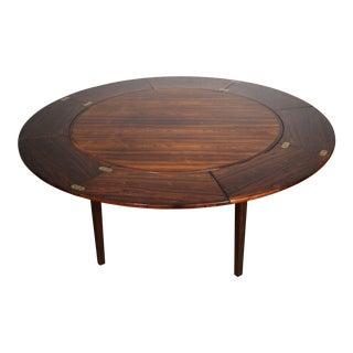 Mid-Century Modern Dyrlund Rosewood Flip-Flap Lotus Table For Sale