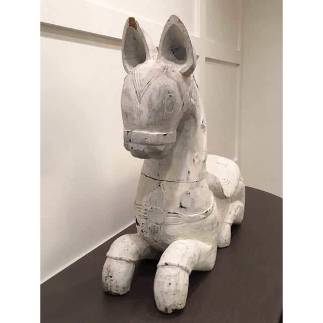 Early 20th Century 20th Century Folk Art Horse Sculpture For Sale - Image 5 of 11