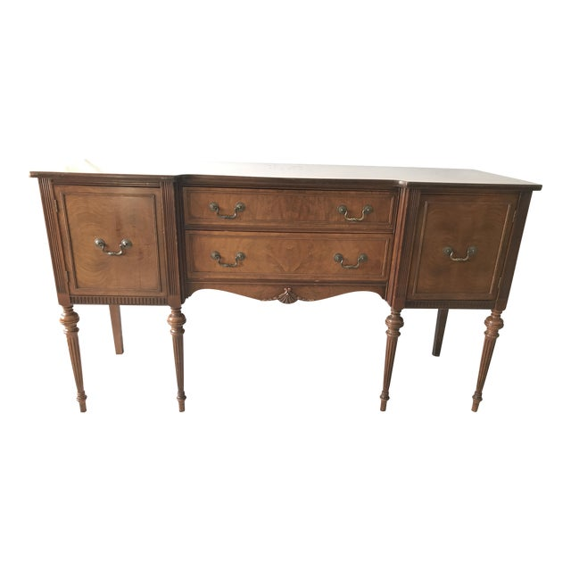 Vintage Detailed Wood Sideboard - Image 1 of 10