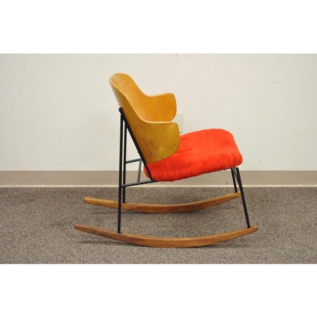 Vintage Mid Century Danish Modern Lb Kofod Larsen Penguin Rocking Chair Rocker - Image 4 of 11