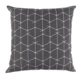 Image of Contemporary Ferrick Mason Criss Cross Outdoor Custom Charcoal Pillow For Sale