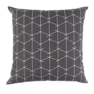 Contemporary Ferrick Mason Criss Cross Outdoor Custom Charcoal Pillow For Sale