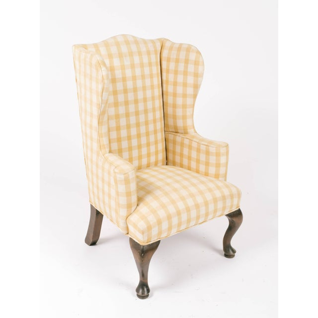 Traditional 1970s Vintage Children's Wing Chair For Sale - Image 3 of 8
