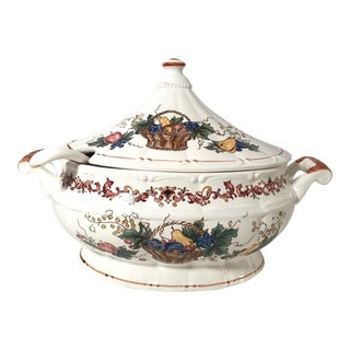 20th Century Cottage Fall Themed Soup Tureen For Sale