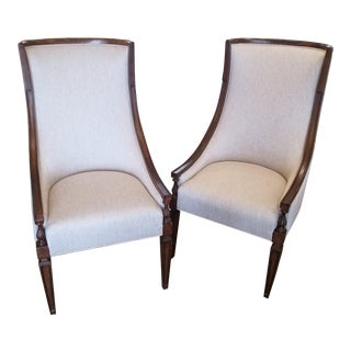 Transitional Stanley Furniture Villa Couture Matteo Dining Chais - a Pair For Sale