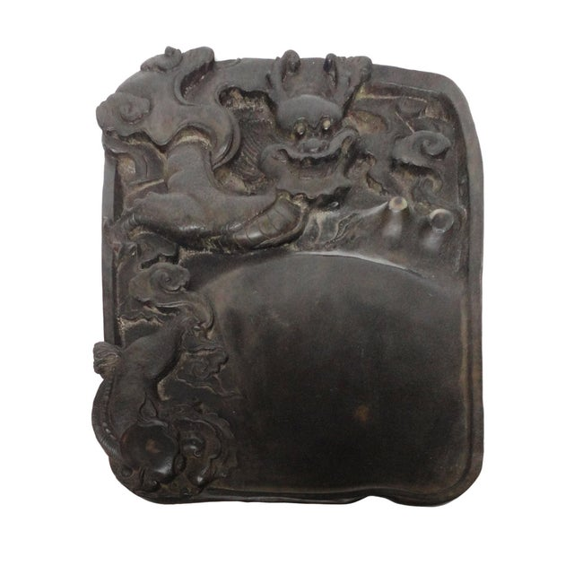 Chinese Inkstone Dragon Sculpture Calligraphy Tool - Image 1 of 6