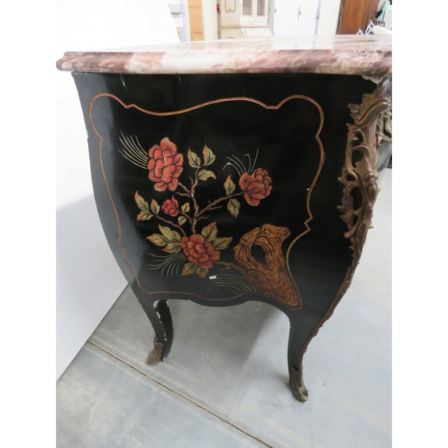 Early 20th Century Chinoiserie Marble-Top Commode For Sale - Image 5 of 10