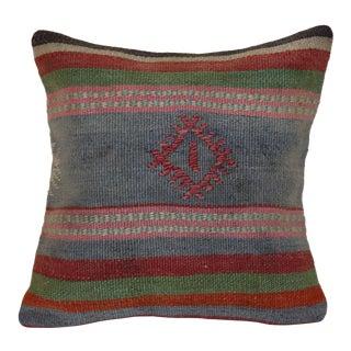 Vintage Kilim Rug Pillow For Sale