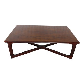1960s Danish Modern Dyrlund Rosewood Coffee Table For Sale