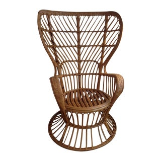 Franco Albini Mid-Century Modern Rattan Chair For Sale