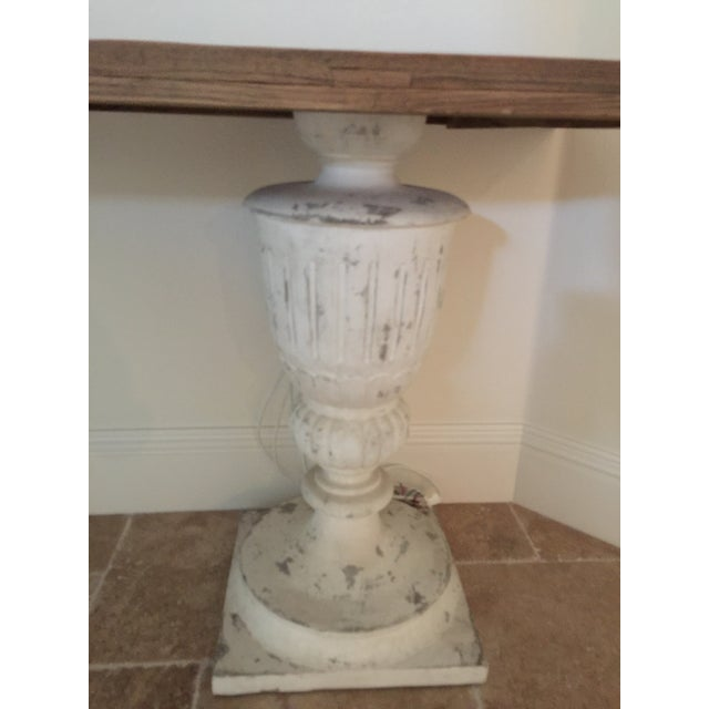 Rustic Rustic Faux Stone Console Table For Sale - Image 3 of 4