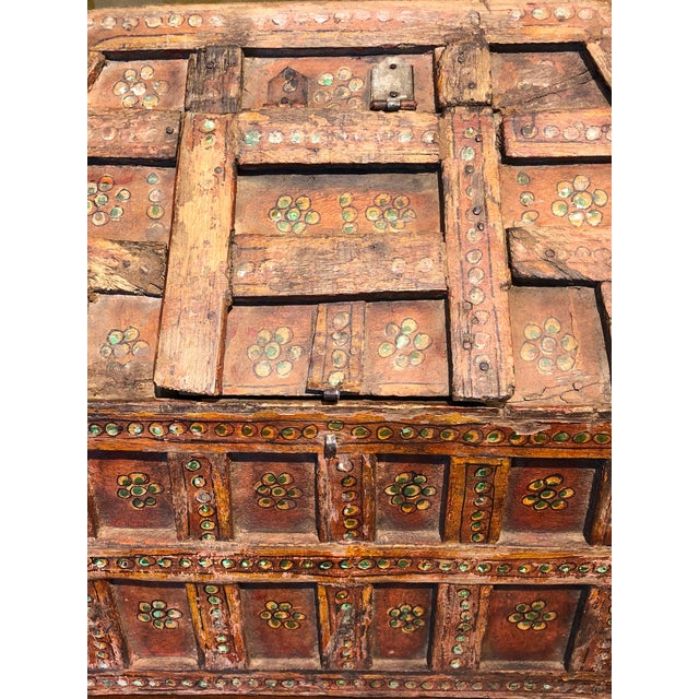 Teak Small Teak Dowry Chest For Sale - Image 7 of 8