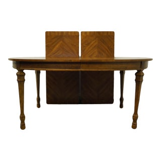 Drexel Heritage Francesca Collection Oval Dining Table With Bookmatched Top For Sale
